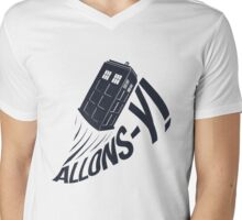 """Allons-y !"" - The Doctor Mens V-Neck T-Shirt"