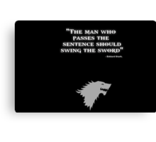 Game of Thrones - House Stark - Eddard Stark Canvas Print