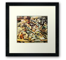 Tiger Eating a Cheeky Monkey. Framed Print