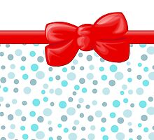 Ribbon, Bow, Dots, Spots - Blue White Red by sitnica