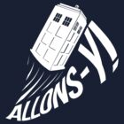 """Allons-y !"" - The Doctor (White Edition) by Mesmaeker"