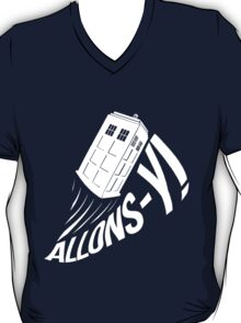 """Allons-y !"" - The Doctor (White Edition) T-Shirt"