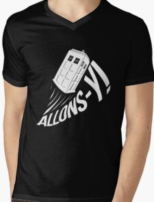 """""""Allons-y !"""" - The Doctor (White Edition) Mens V-Neck T-Shirt"""