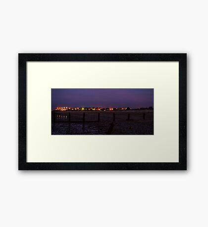 Leysdown at night Framed Print