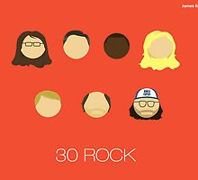 30 Rock Characters by jamesrostron