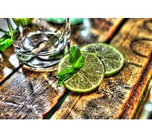 Mint and Lime Photographic Print