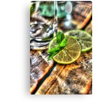 Mint and Lime II Canvas Print