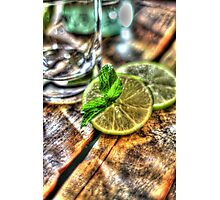 Mint and Lime II Photographic Print