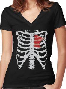 Minnesota's in my Heart Women's Fitted V-Neck T-Shirt