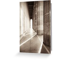 walhalla colonnade Greeting Card