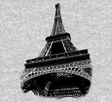 Eiffel Tower Digital Engraving Unisex T-Shirt