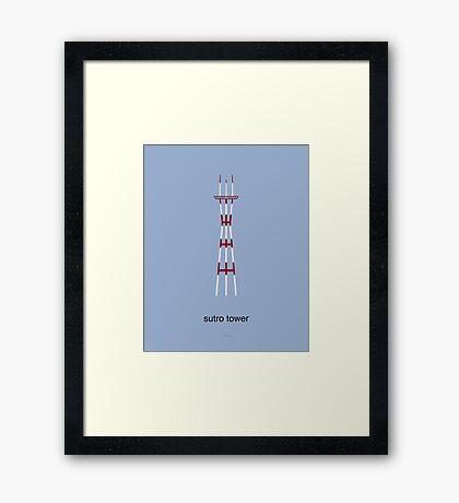 Sutro Tower Print Framed Print