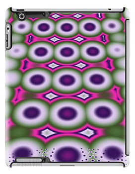 Cool retro Bubbles and Dots fractal art case by walstraasart