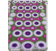 Cool retro Bubbles and Dots fractal art case iPad Case/Skin