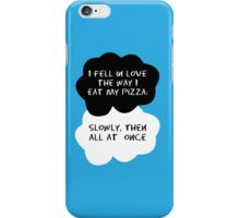 TFIOS - I fell in love the way I eat my pizza iPhone Case/Skin