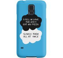 TFIOS - I fell in love the way I eat my pizza Samsung Galaxy Case/Skin