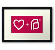 I ♡ Planned Parenthood wm Framed Print
