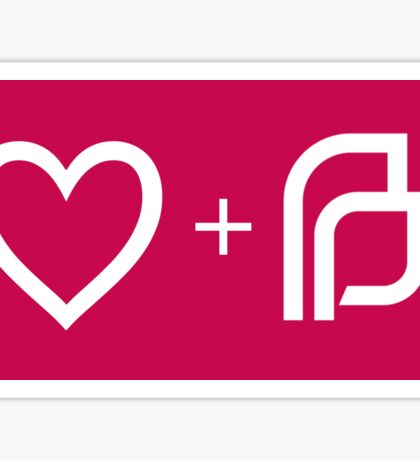 I ♡ Planned Parenthood wm Sticker