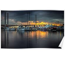 Victoria Harbour Sunset Poster