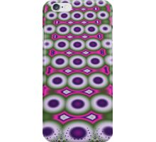 Cool retro Bubbles and Dots fractal art case iPhone Case/Skin