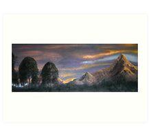 Peaks at Sunset Art Print