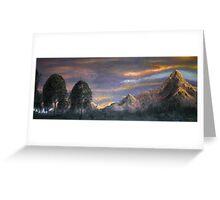 Peaks at Sunset Greeting Card