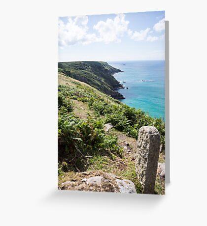 cornwall coast Greeting Card
