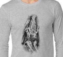 Halloween Skeleton in Manacles! Digital Halloween Engraving. Long Sleeve T-Shirt