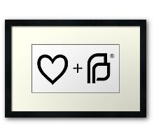 I ♡ Planned Parenthood bw Framed Print