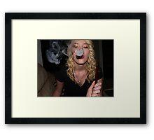 Smoke Ring Framed Print