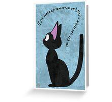 Jiji The Cat Greeting Card