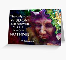 Knowing You Know Nothing Greeting Card