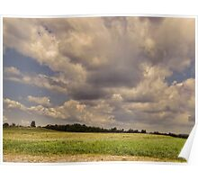Low lying clouds Poster