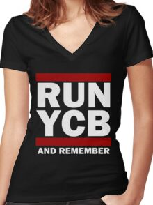 Run You Clever Boy And Remember Women's Fitted V-Neck T-Shirt