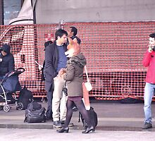 """the fox lady in the station (passing) by Antonello Incagnone """"incant"""""""