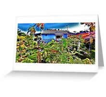 homw green Greeting Card