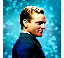James Cagney, blue screen Photographic Print