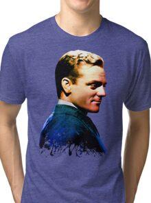 James Cagney, blue screen Tri-blend T-Shirt
