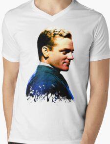 James Cagney, blue screen Mens V-Neck T-Shirt
