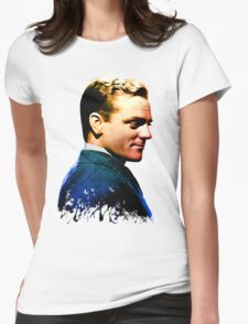 James Cagney, blue screen Womens Fitted T-Shirt
