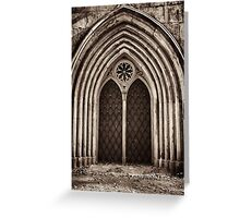 neo-gothic crypt Greeting Card