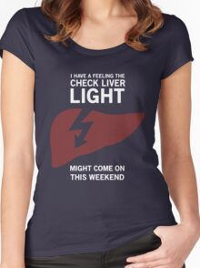 Check Liver Light Women's Fitted Scoop T-Shirt