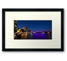 Brisbane River During The Blue Hour Framed Print