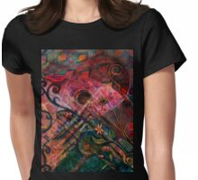 Troubadour Tapestry Womens Fitted T-Shirt