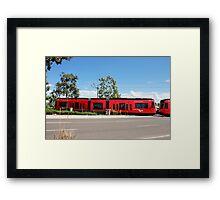 Red Trolley Framed Print