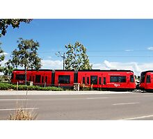 Red Trolley Photographic Print