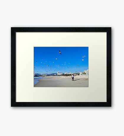 The Sounds Of The Fruit Lady Get Lost In The Cry Of The Birds... Framed Print