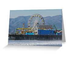 The Ferris Wheel At Pacific Park Greeting Card