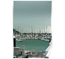 Auckland Boats Poster