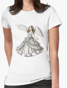 Snow Angel Womens Fitted T-Shirt